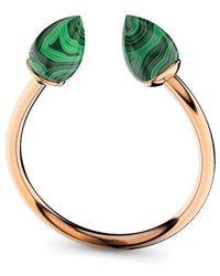 MARCELLO RICCIO - Rose Gold Plated Silver & Malachite Ring - Lyst