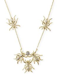 J.Herwitt - 5 Ant Crumb Necklace Yellow Gold - Lyst