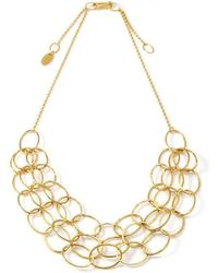 Heather O Connor - 3 Line Gold Cascade Necklace - Lyst