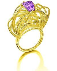 Elaine McKay Jewellery - Ricard 18kt Gold Amethyst Ring - Lyst