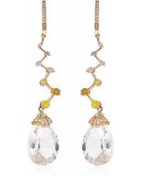 Nehita Jewelry - White Quartz Ziggy Earrings - Lyst