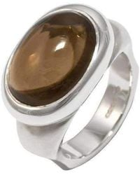 Luke Goldsmith - Silver Eyecandy Smoky Quartz Ring - Lyst