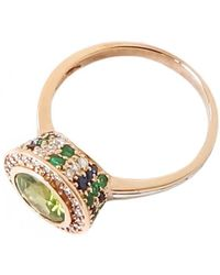 Ri Noor - Peridot Sapphire Emerald And Diamond Ring - Lyst
