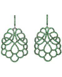 Mara Hotung - Renaissance Earrings Tsavorite Garnets 18kt Black Gold - Lyst
