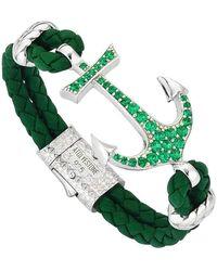 Atolyestone London - Leather Anchor Bracelet - Lyst
