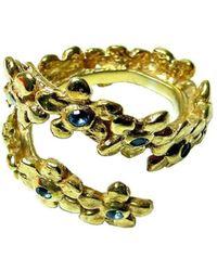 Beryl Dingemans Jewellery - Daisy Chain Ring With Blue Topaz - Lyst