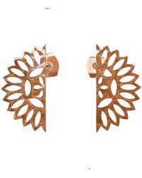 Murkani Jewellery - Rose Gold Lace Edge Stud Earrings | - Lyst