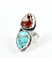 Gemspell Jewellery - Dual Opal Turquoise Ring - Lyst