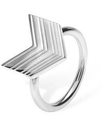 Lucy Quartermaine Art Deco Arrow Ring - Multicolour