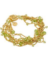 Mishanto London - Rio Yellow Gold Peridot Bracelet - Lyst
