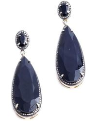 M's Gems by Mamta Valrani - Dark Magic Drop Earrings With Onyx And Diamonds - Lyst