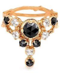 Daou Jewellery White Gold & Diamond Twin Spark Ring - UK O 1/2 - US 7 1/4 - EU 55 3/4 SaTWtWpxHE