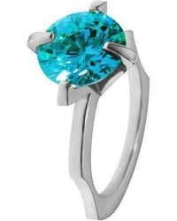 Luke Goldsmith - Blue Cubic Zirconia Cocktail Ring - Lyst