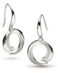 Kit Heath | Twine Helix Pave Drop Earrings | Lyst