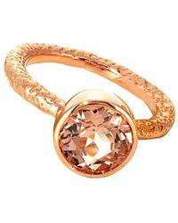 Susan Wheeler Design - Morganite Ring - Lyst
