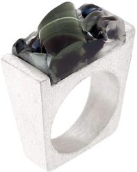 Pasionae - Murano Glass Silver Ring - Lyst