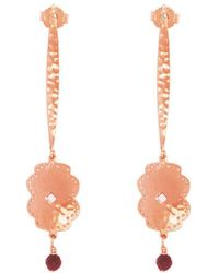 Murkani Jewellery - Rose Gold Plated Beleza Long Earrings - Lyst