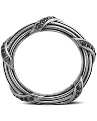 Peter Thomas Roth Fine Jewelry | Peter Thomas Roth Signature Classic Band Ring In Ruthenium Sterling Silver 3mm Size 5 To 13 | Lyst
