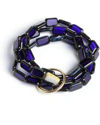 Eva Michele - Midnight Moon Bracelet - Lyst