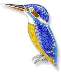 Nicole Barr - Silver Kingfisher Blue Brooch - Lyst