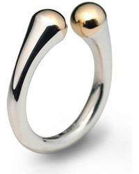 Jeremy Heber Jewellery - Silver & 9kt Yellow Gold Domes Ring - Lyst