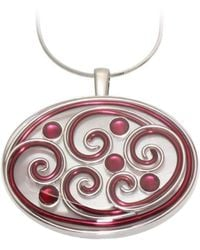 AVA Goldworks - Amaryllis Mother Of Pearl And Garnet Pendant - Lyst