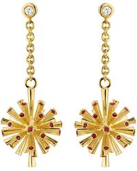 Ayalla Joseph - Fireworks Earrings With Red Spinel - Lyst