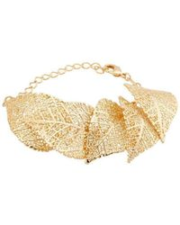 Amazona Secrets - 18kt Gold 5 Leaf Savannah Leaf Bracelet - Lyst