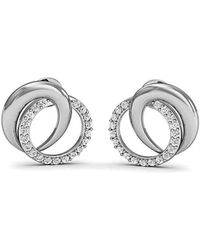 Diamoire Jewels Pave Earrings Handmade with Premium Diamonds and Hand-carved 18kt White Gold bbSkjP9L