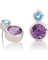 MANJA Jewellery - Lana Amethyst & Blue Topaz Earrings - Lyst