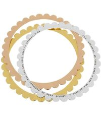 Posh Totty Designs - Personalised Scalloped Bangle - Lyst