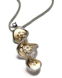 Gia Belloni Silver And Gold HoneyTags Necklace VJba2