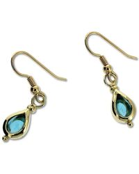 Will Bishop White Gold & Blue Topaz Earrings rzQGsa