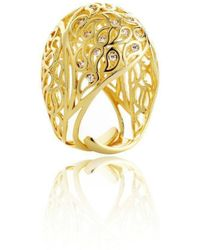 Sonal Bhaskaran - Shikhara Gold Dome Ring Clear Cz - Lyst