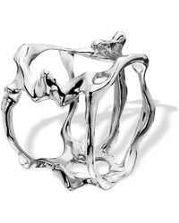Hazel NY - Open Flame Ring White Gold - Lyst
