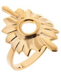 Taylor Black - Gold Large Sunburst Ring - Lyst