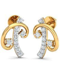 Diamoire Jewels 18kt Yellow Gold 0.34ct Pave Diamond Infinity Earrings II UlZOPwU1d