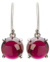 Mishanto London - Loris Garnet Claw Set Earrings - Lyst