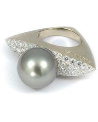 baerjewels - White Tahitian Pearl Ring - Lyst