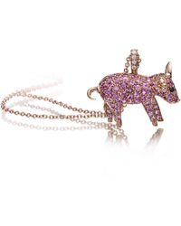 Pinomanna - Pet Jewels Collection Pig Necklace - Lyst
