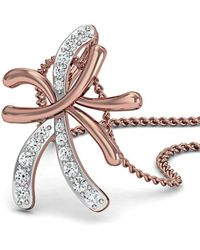 Diamoire Jewels - Hand-carved 18kt Rose Gold And Diamond Pendant - Lyst