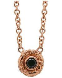 Susan Wheeler Design - Rose Gold Black Diamond Necklace - Lyst