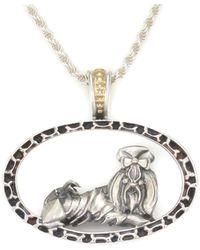 Donna Pizarro Designs 14kt Diamond Pug Pave Heart Necklace 8DqvNb