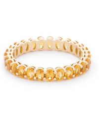 VOA Fine Jewellery - Signature Oval Yellow Eternity Ring - Lyst