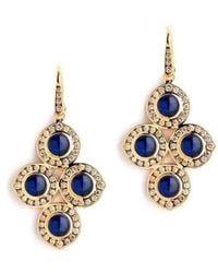 Syna 18kt Blue Sapphire & Champagne Diamond Earrings xNWZ5