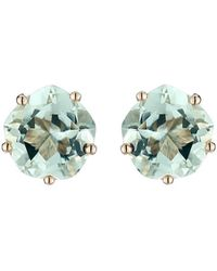 Mishanto London - Pair Of Yellow Gold & Green Amethyst Chic Galina Ear Studs - Lyst