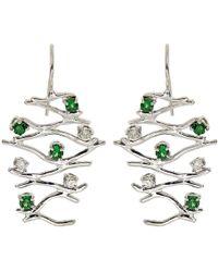 Botta Gioielli - Tzavorites And Diamonds Waves Earrings - Lyst