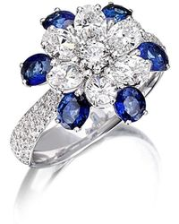 Pinomanna - White Gold & Sapphire Mama Non M'ama Collection Ring | - Lyst