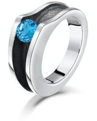 Becky Rowe - Silver Blue Topaz Ring - Lyst