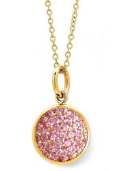 Syna 18kt Large Drop Pendant With Champagne Diamonds on 18kt Chain WIRjGN1OPQ
